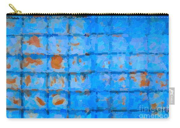 Blue Shutter And Rust Carry-all Pouch