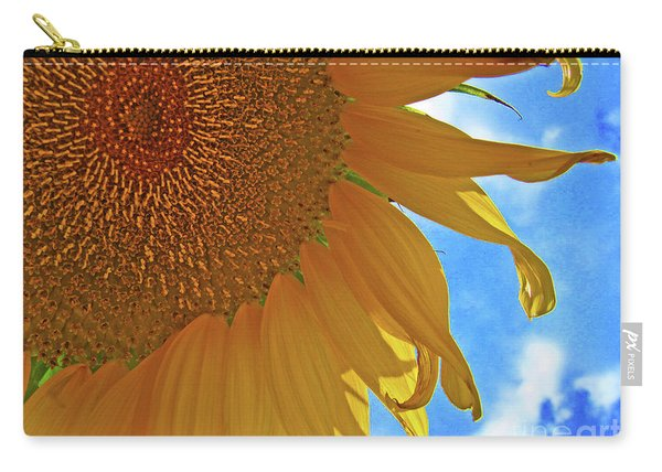 Blue Sky Sunflower Carry-all Pouch