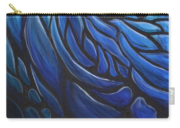 Blue Stained Glass Carry-all Pouch