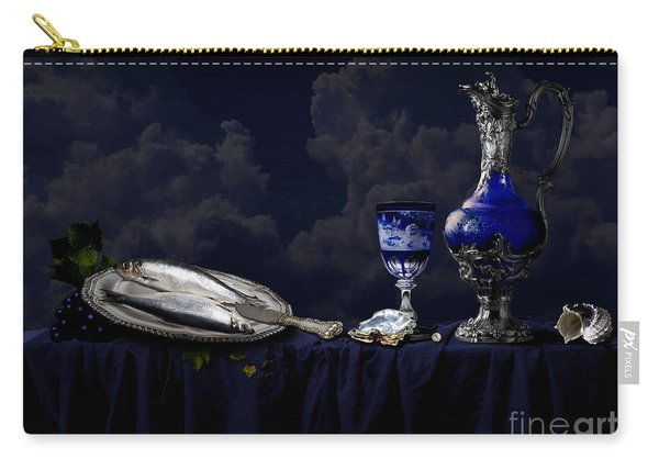 Still Life In Blue Carry-all Pouch