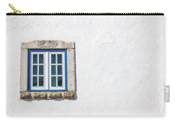 Blue Stone Window Of Obidos Carry-all Pouch