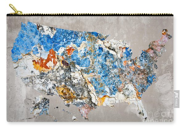 Blue Street Art Us Map Carry-all Pouch