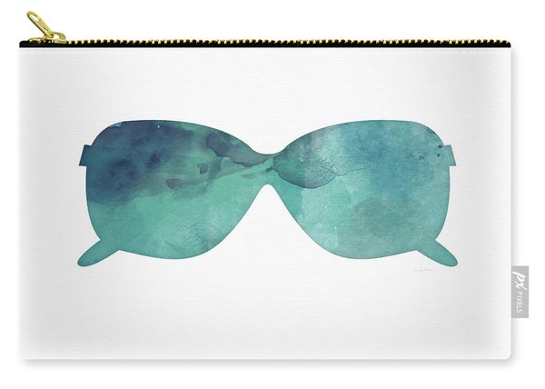 Blue Sunglasses 1- Art By Linda Woods Carry-all Pouch