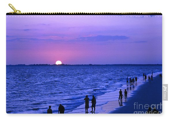 Blue Sunset On The Gulf Of Mexico At Fort Myers Beach In Florida Carry-all Pouch