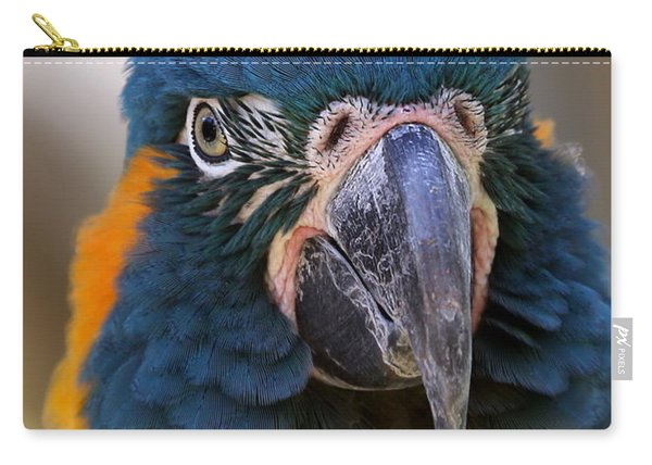 Blue-throated Macaw Close-up Carry-all Pouch
