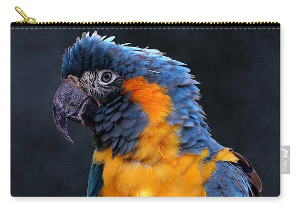 Blue-throated Macaw Profile Carry-all Pouch
