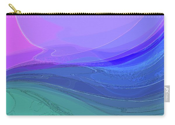Carry-all Pouch featuring the digital art Blue Valley by Gina Harrison