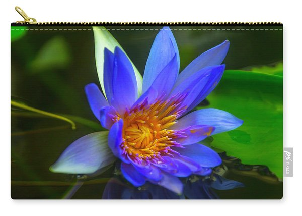 Blue Waterlily In Pond Carry-all Pouch