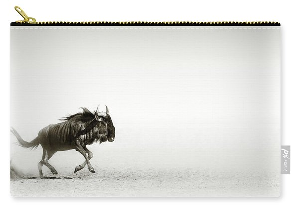 Blue Wildebeest In Desert Carry-all Pouch