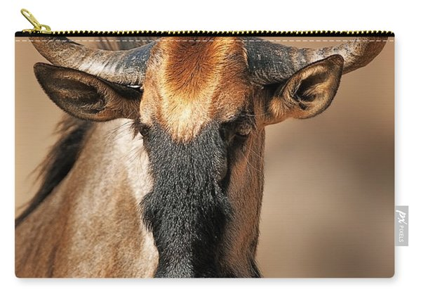 Blue Wildebeest Portrait Carry-all Pouch