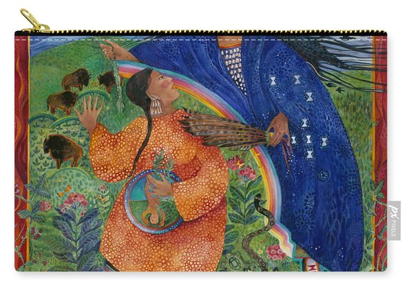 Blue Woman Carry-all Pouch