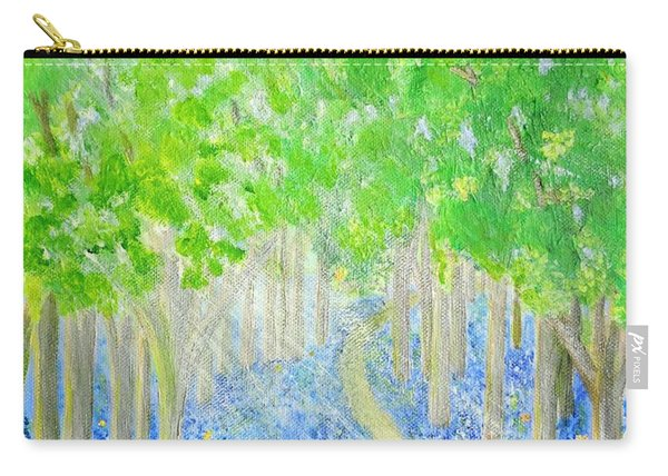 Bluebell Wood With Butterflies Carry-all Pouch