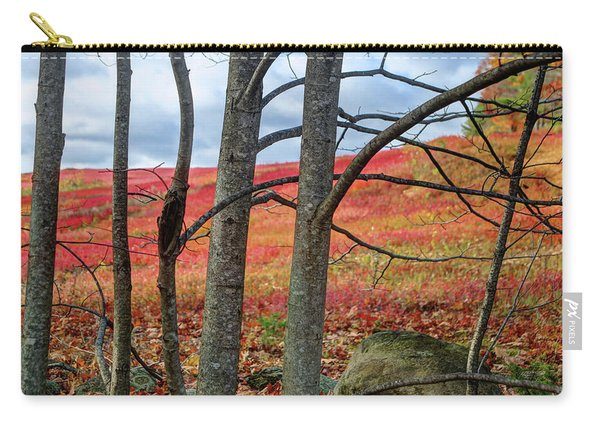 Blueberry Field Through The Wall - Cropped Carry-all Pouch