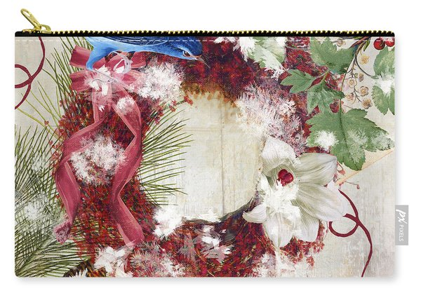 Bluebird Christmas I Carry-all Pouch