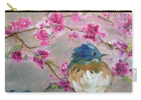 Bluebird On A Branch Carry-all Pouch