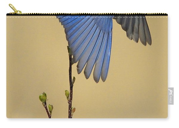 Bluebird Takes Flight Carry-all Pouch