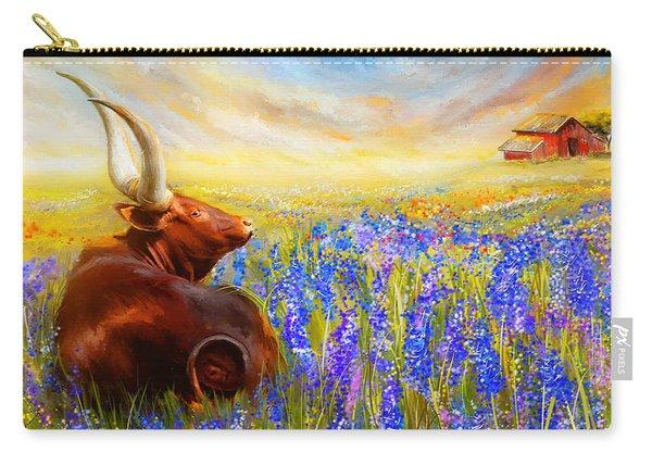 Bluebonnet Dream - Bluebonnet Paintings Carry-all Pouch