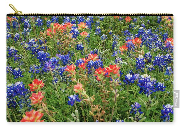 Bluebonnets And Paintbrushes 3 - Texas Carry-all Pouch