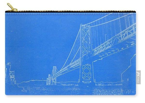 Blueprint Of Suspension Bridge Carry-all Pouch