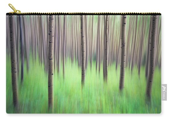 Blurred Aspen Trees Carry-all Pouch