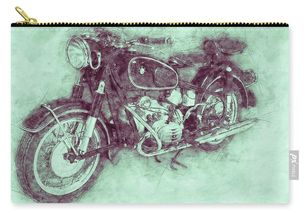 Bmw R60/2 - 1956 - Bmw Motorcycles 3 - Vintage Motorcycle Poster - Automotive Art Carry-all Pouch