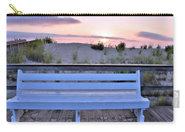 A Welcome Invitation -  The Boardwalk Bench Carry-all Pouch