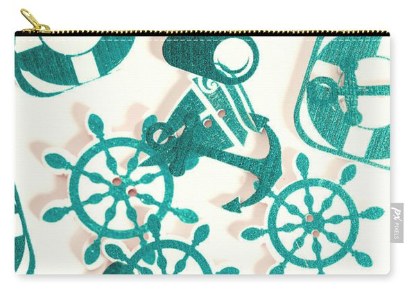 Boat Button Harbour Carry-all Pouch