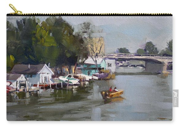 Boat Houses At North Tonawanda Carry-all Pouch