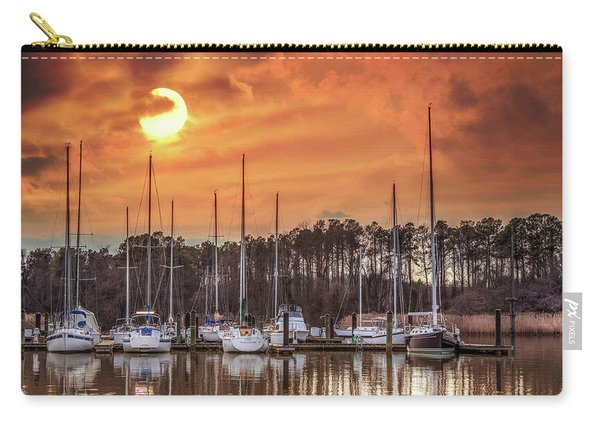Boat Marina On The Chesapeake Bay At Sunset Carry-all Pouch