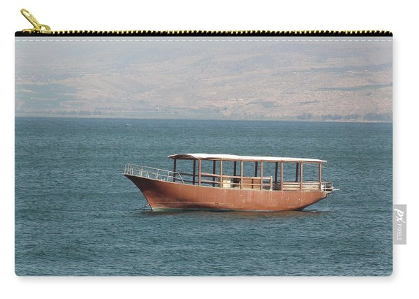 Boat On Sea Of Galilee Carry-all Pouch