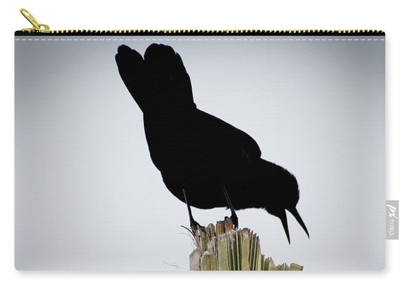 Boat-tailed Grackle Silhuoette Carry-all Pouch