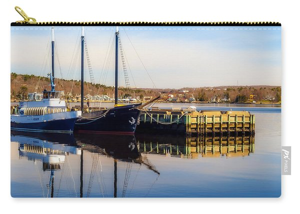 Boats At Bedford Waterfront Carry-all Pouch