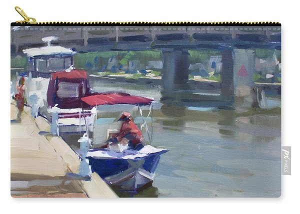 Boats At North Tonawanda Canal Carry-all Pouch