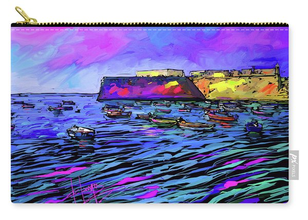 Boats In Cadiz, Spain Carry-all Pouch