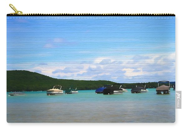 Boats In Sleeping Bear Bay Wood Texture Carry-all Pouch