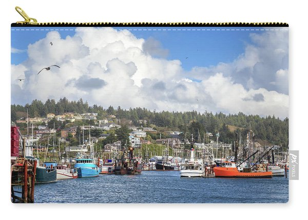 Boats In Yaquina Bay Carry-all Pouch