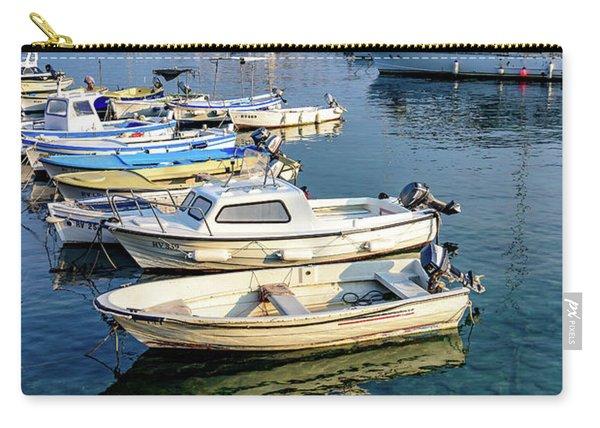 Boats Of The Adriatic, Rovinj, Istria, Croatia  Carry-all Pouch