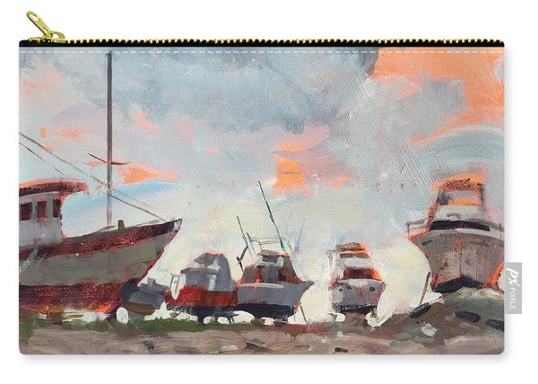 Boatyard Silhouettes Carry-all Pouch