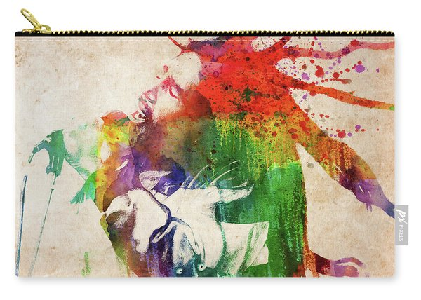 Bob Marley Singing Colorful Portrait Carry-all Pouch