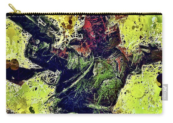 Carry-all Pouch featuring the mixed media Boba Fett by Al Matra
