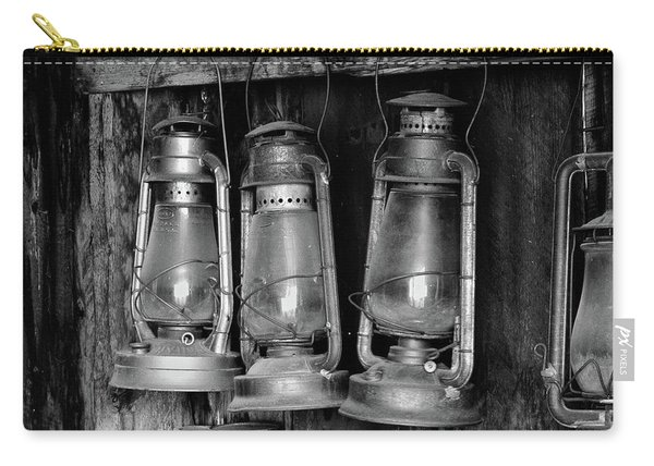 Carry-all Pouch featuring the photograph Bodie Lanterns by Tom Singleton
