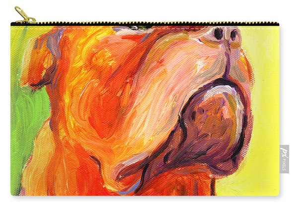 Bodreaux Mastiff Dog Painting Carry-all Pouch