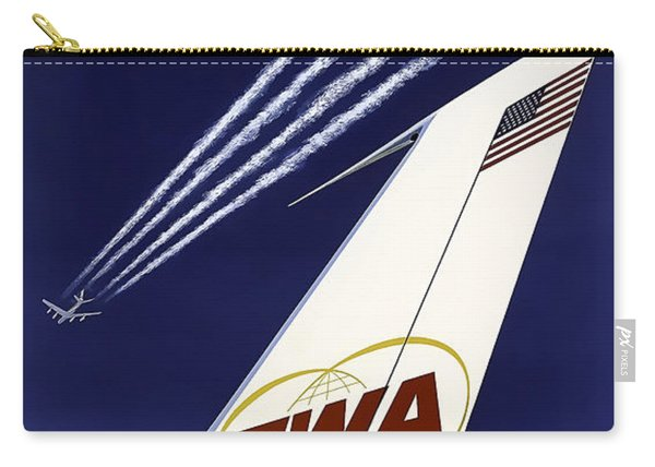 Boeing 707 Trans World Airlines C. 1960 Carry-all Pouch
