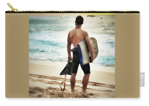 Boggie Boarder At Waimea Bay Carry-all Pouch