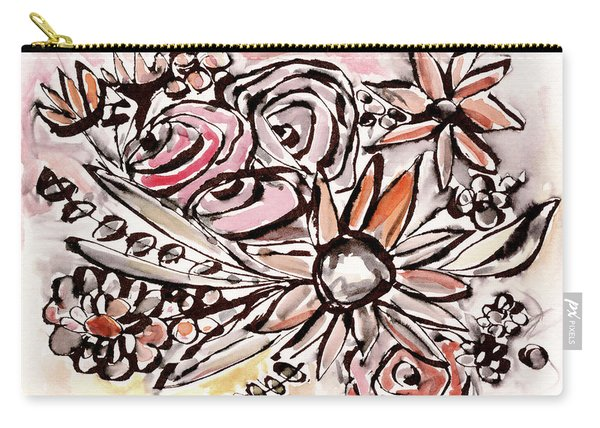 Bohemian Garden 1- Art By Linda Woods Carry-all Pouch