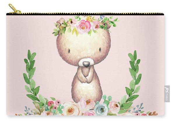 Boho Bear Blush Nursery Pillow Wall Art Mug Woodland Decor Carry-all Pouch