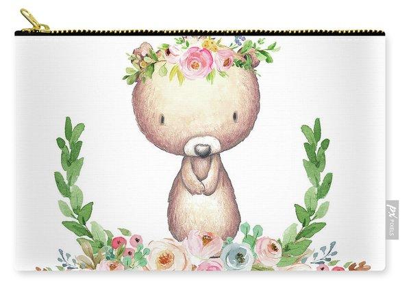 Boho Bear Nursery Pillow Wall Art Mug Woodland Decor Carry-all Pouch