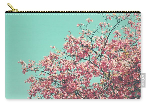 Boho Cherry Blossom 2- Art By Linda Woods Carry-all Pouch