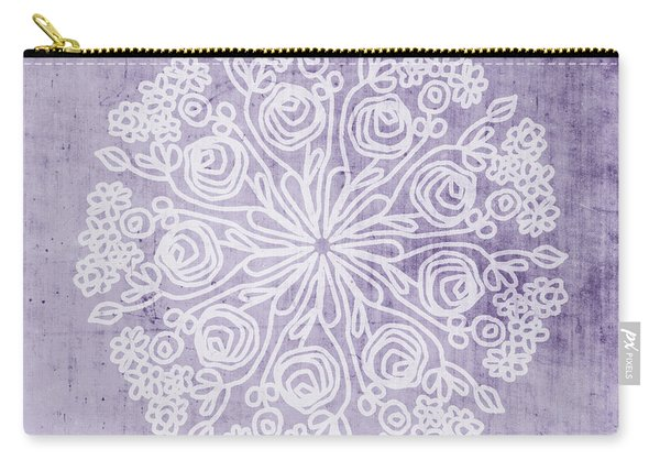 Boho Floral Mandala 1- Art By Linda Woods Carry-all Pouch
