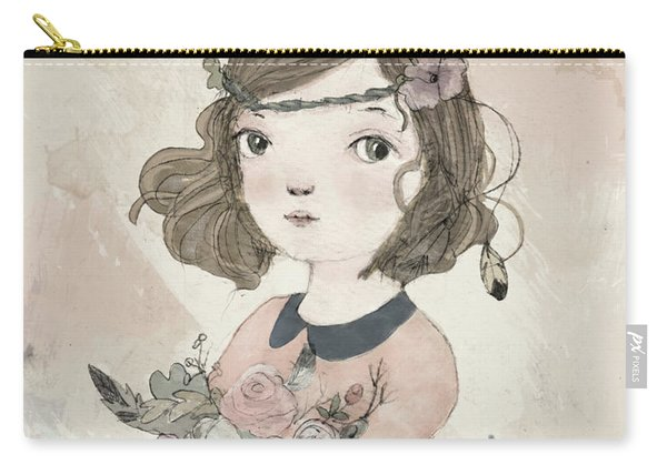Boho Little Girl Carry-all Pouch